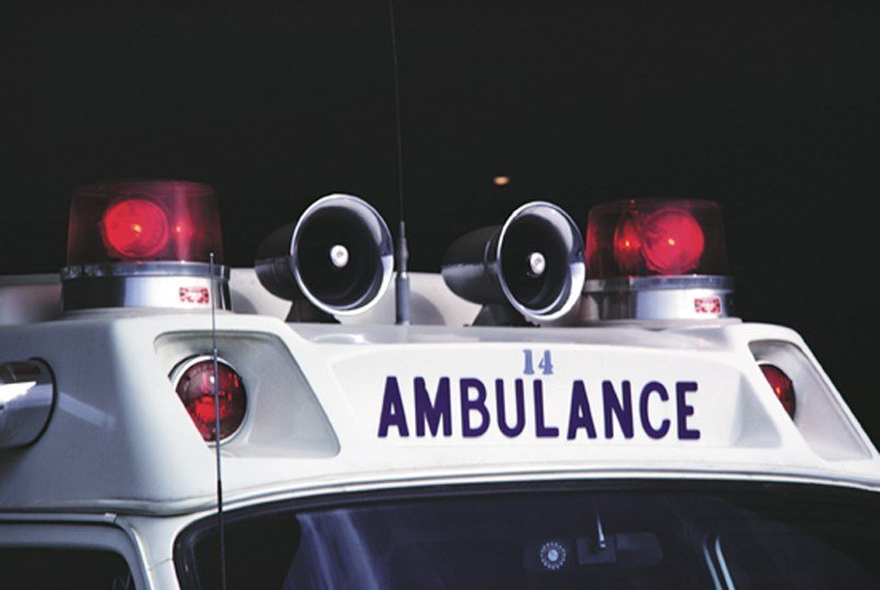 Red lights on an ambulance (Wikimedia Commons)