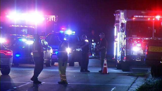Scene of fatal crash on Highway 221 (July 18, 2018/FOX Carolina)