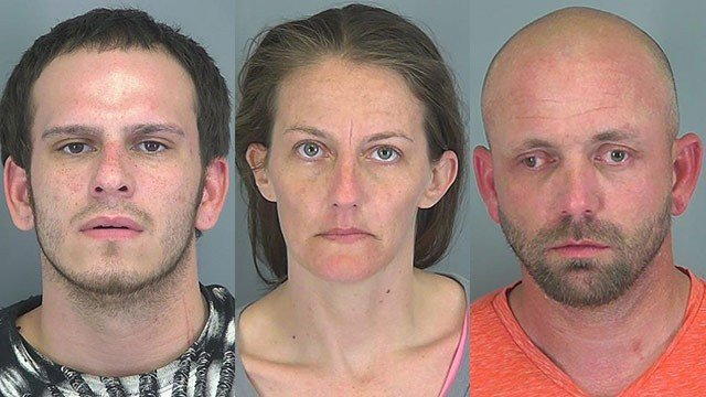 Left to right: James Abee, Tonya Alverson, Brandon Anders (Source: SCSO)
